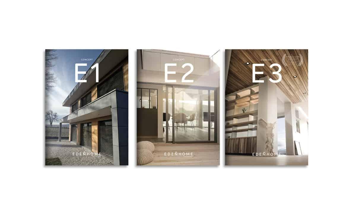 Edition Edenhome, graphiste, branding Annecy. BLUE1310 agence de communication web marketing digital à Annecy