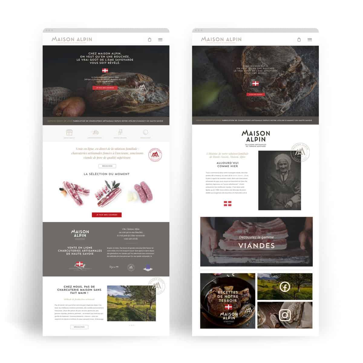 Webdesign, site E-commerce. Annecy