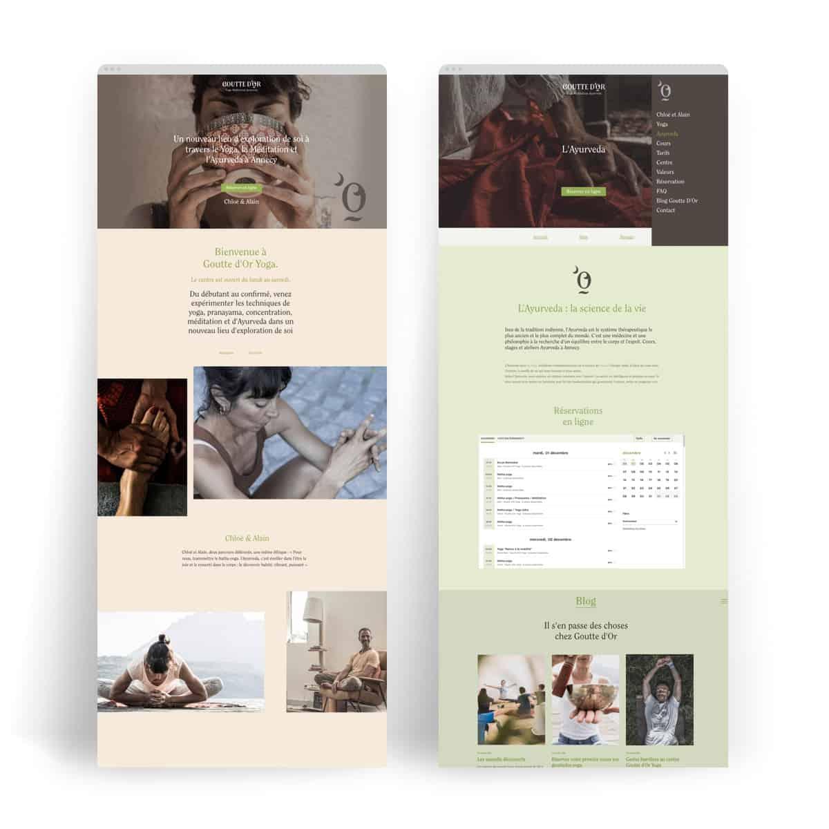 Création de site, webdesign. BLUE1310 agence de communication web marketing digital à Annecy