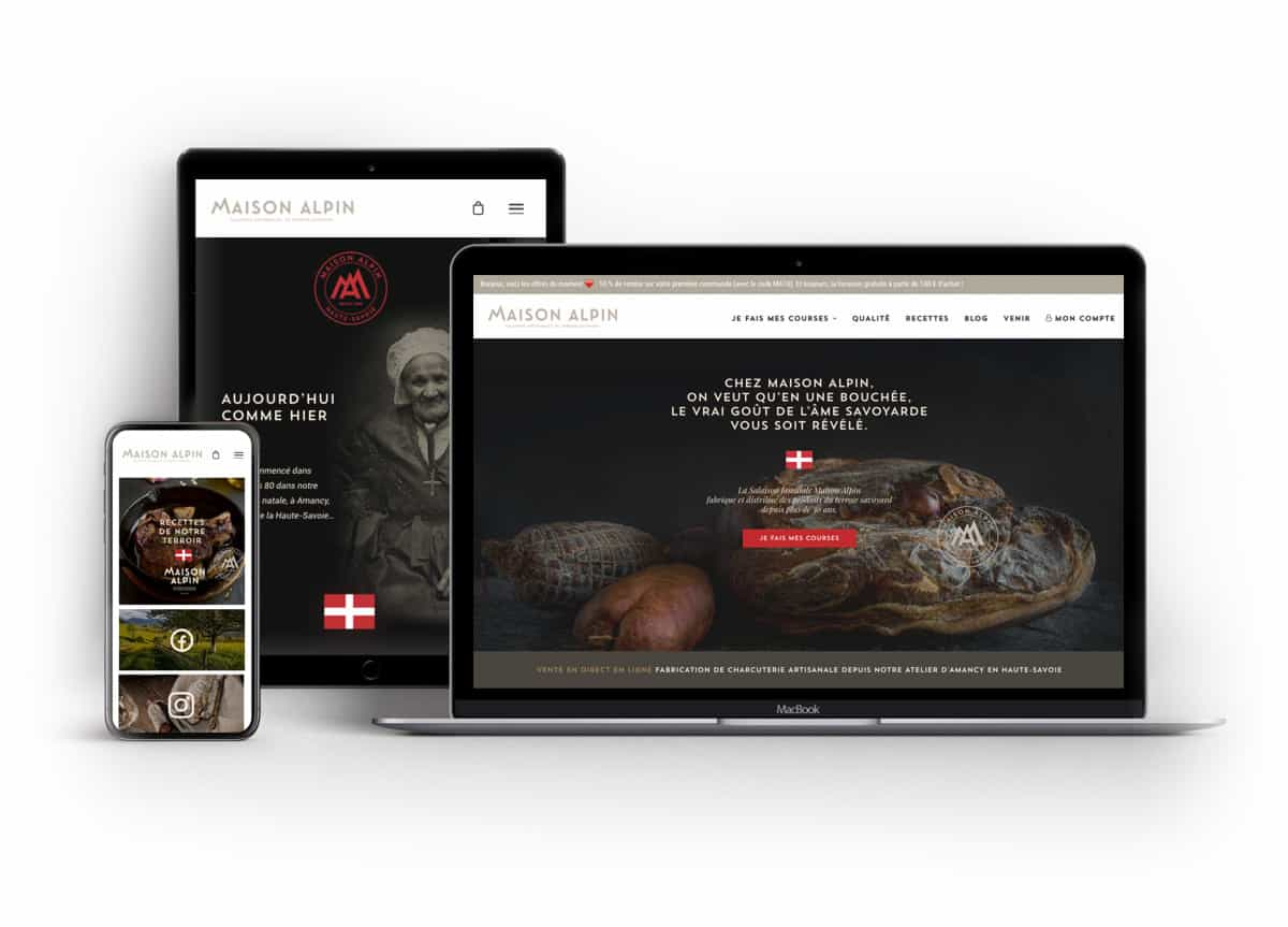 Création site E-commerce, site internet webdesign Annecy