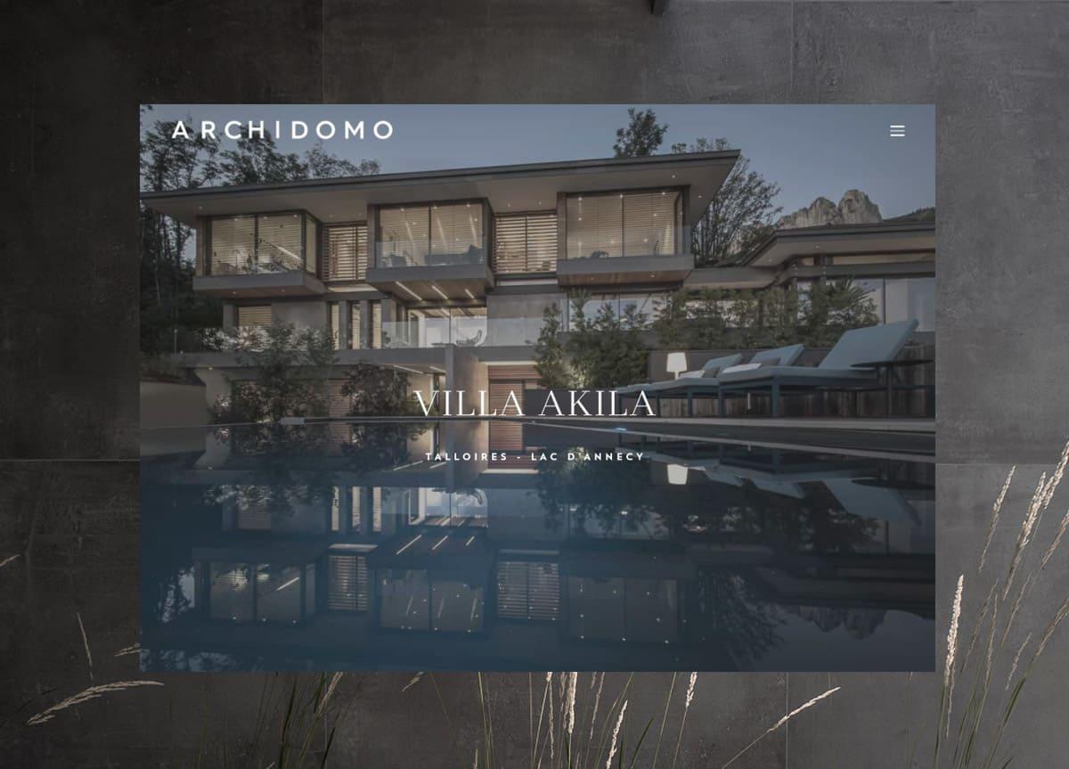 Site portfolio, Architecte Archidomo, création de site haut de gamme, Blue1310 à Annecy en Haute-Savoie
